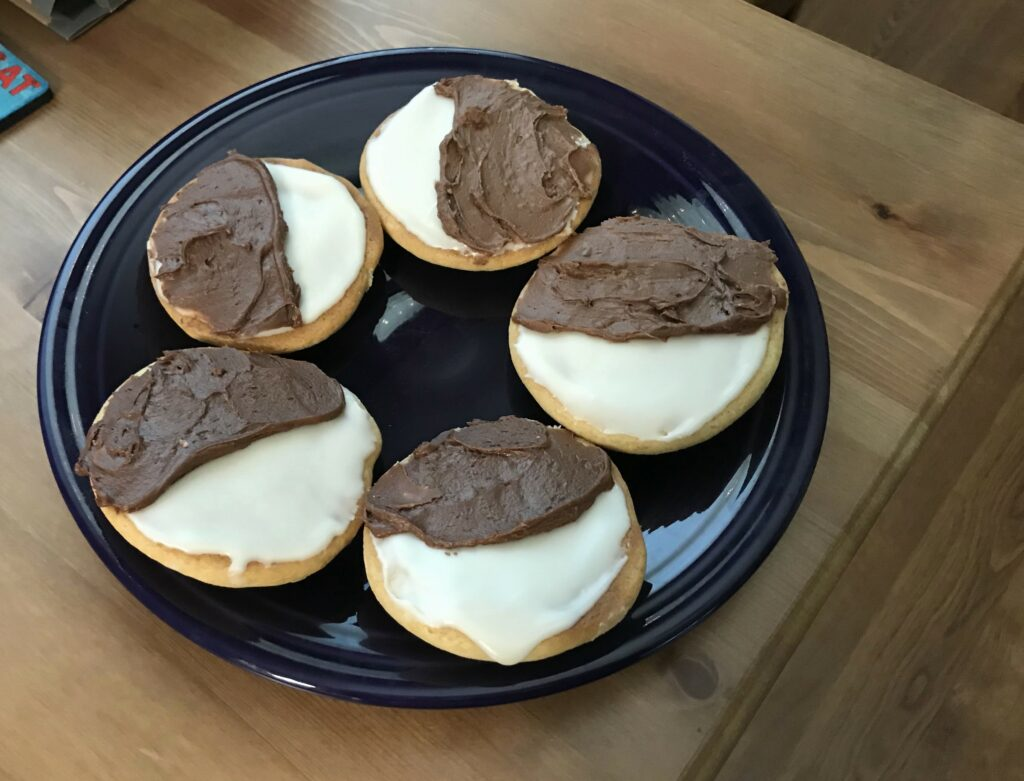 plant-based black and white cookies